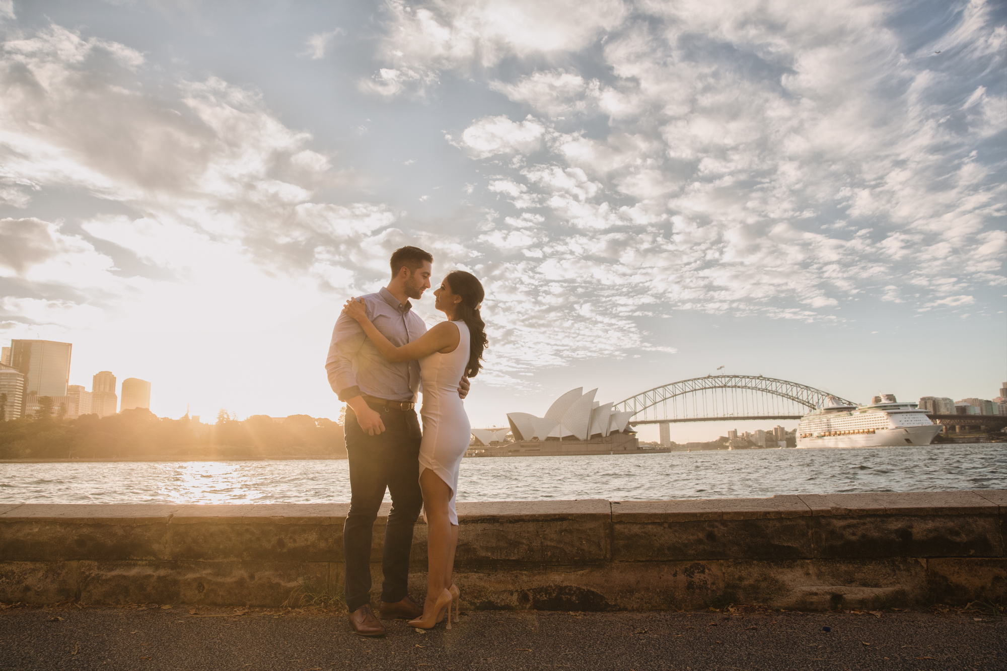 Engaged - Sydney Harbour - Sunset