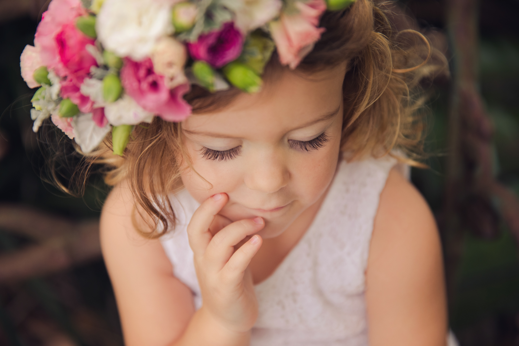 Little Girl-Floral Headpiece-Flowers-Wonder